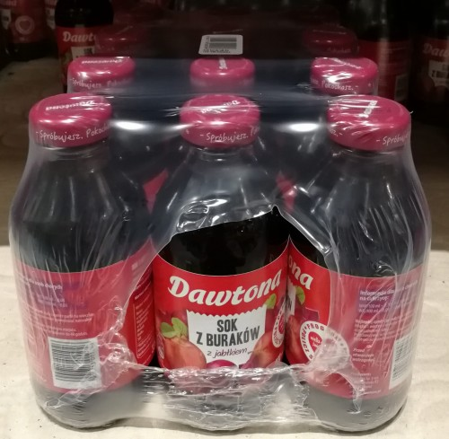 Dawtona Sok 330ml Burak z jabłkiem - karton Hurtownia z napojami - 1400 produktów!
